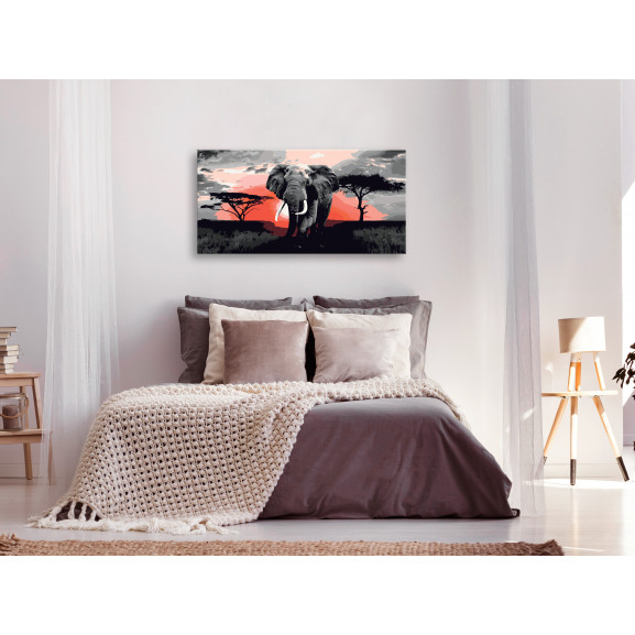 Pictatul Pentru Recreere Elephant (Africa) 80 cm x 40 cm naturlich.ro