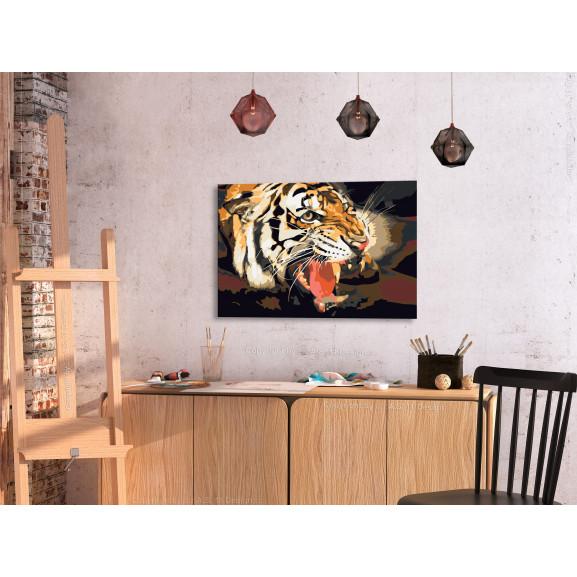 Pictatul Pentru Recreere Tiger Roar 60 cm x 40 cm naturlich.ro