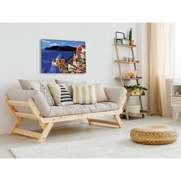 Pictatul Pentru Recreere Santorini 60 cm x 40 cm naturlich.ro