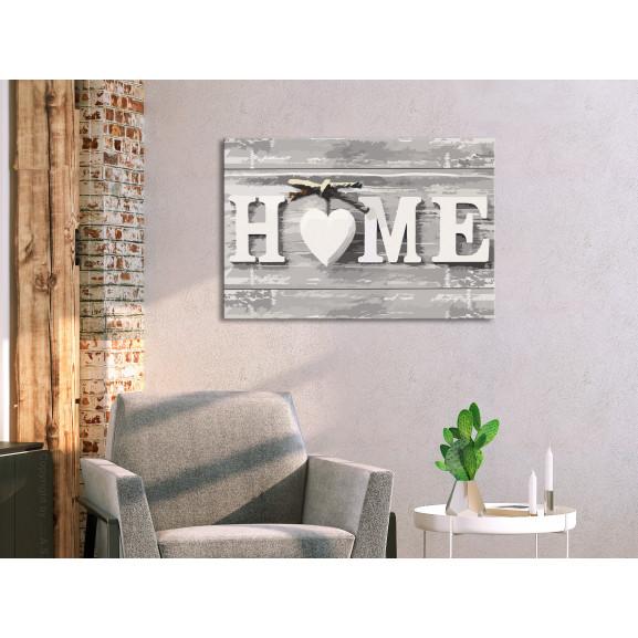 Pictatul Pentru Recreere Home (Letters) 60 cm x 40 cm naturlich.ro