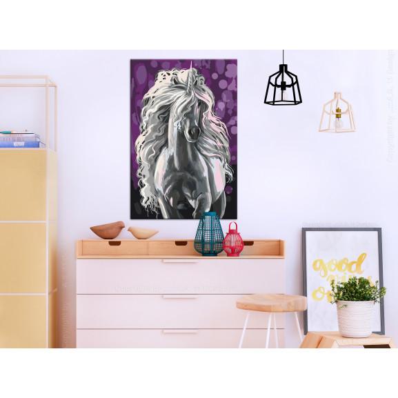 Pictatul Pentru Recreere White Unicorn 40 cm x 60 cm naturlich.ro