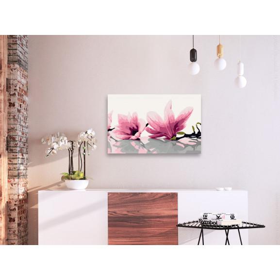 Pictatul Pentru Recreere Magnolia (White Background) 60 cm x 40 cm naturlich.ro