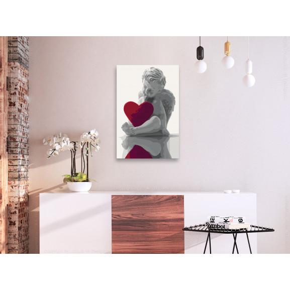 Pictatul Pentru Recreere Angel (Red Heart) 40 cm x 60 cm naturlich.ro