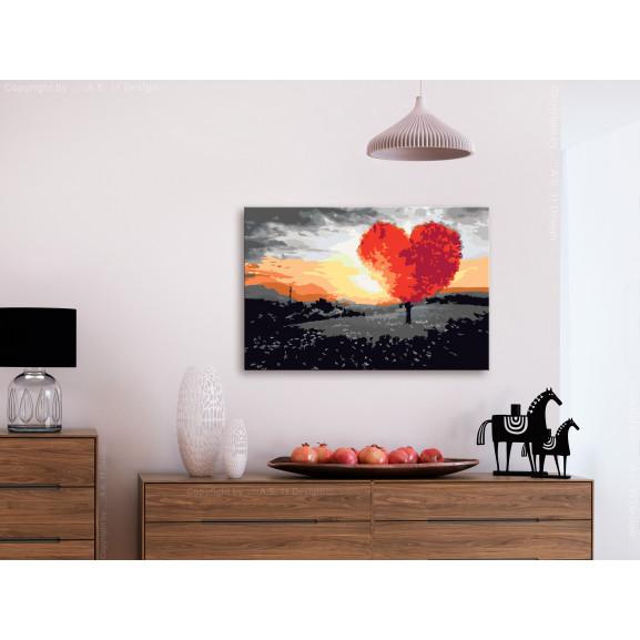 Pictatul Pentru Recreere Heart-Shaped Tree (Sunrise) 60 cm x 40 cm naturlich.ro