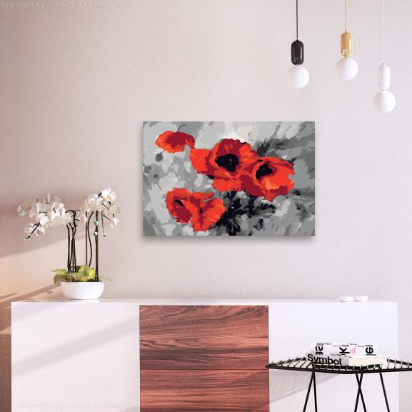 Pictatul Pentru Recreere Bouquet Of Poppies 60 cm x 40 cm naturlich.ro