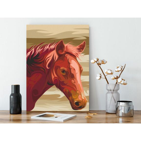 Pictatul Pentru Recreere Brown Horse 40 cm x 60 cm naturlich.ro