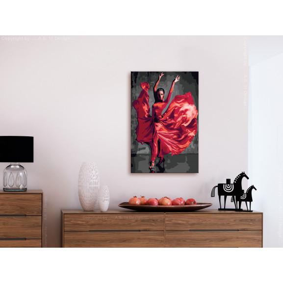 Pictatul Pentru Recreere Red Dress 40 cm x 60 cm naturlich.ro