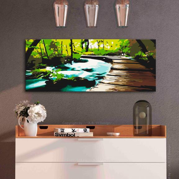 Pictatul Pentru Recreere Footbridge 100 cm x 40 cm naturlich.ro
