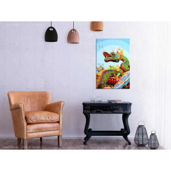 Pictatul Pentru Recreere Colourful Dragon 40 cm x 60 cm naturlich.ro