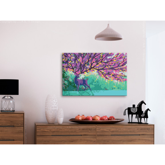 Pictatul Pentru Recreere Purple Deer 60 cm x 40 cm naturlich.ro