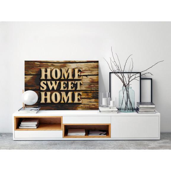Pictatul Pentru Recreere Wooden Home 60 cm x 40 cm naturlich.ro