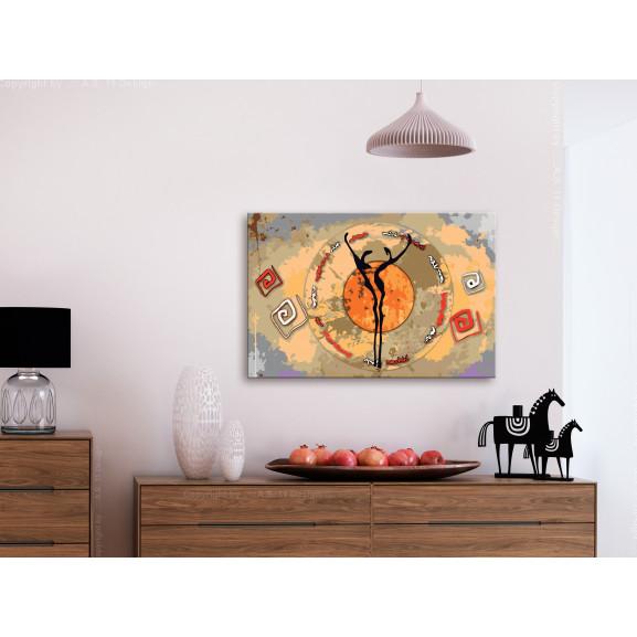 Pictatul Pentru Recreere African Dance 60 cm x 40 cm naturlich.ro