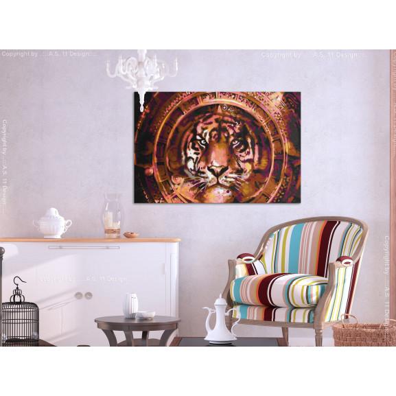 Pictatul Pentru Recreere Tiger And Ornaments 60 cm x 40 cm naturlich.ro