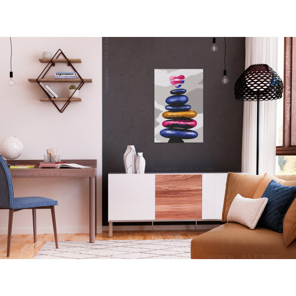 Pictatul Pentru Recreere Colored Pebbles 40 cm x 60 cm naturlich.ro