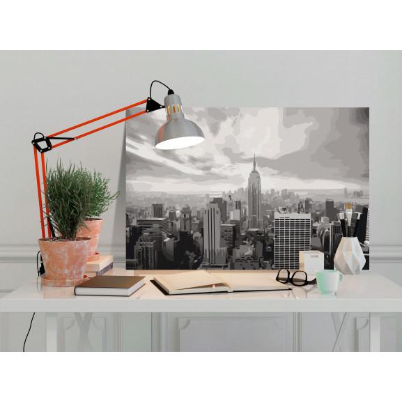 Pictatul Pentru Recreere Grey New York 60 cm x 40 cm naturlich.ro