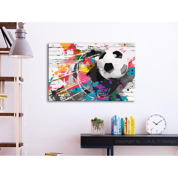 Pictatul Pentru Recreere Colourful Ball 60 cm x 40 cm naturlich.ro