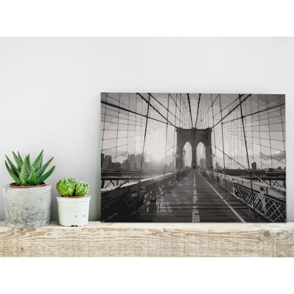 Pictatul Pentru Recreere New York Bridge 60 cm x 40 cm naturlich.ro