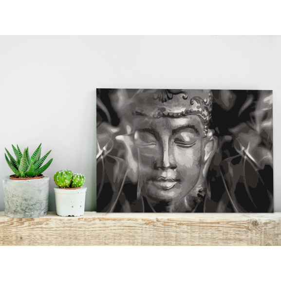 Pictatul Pentru Recreere Buddha In Black And White 60 cm x 40 cm naturlich.ro