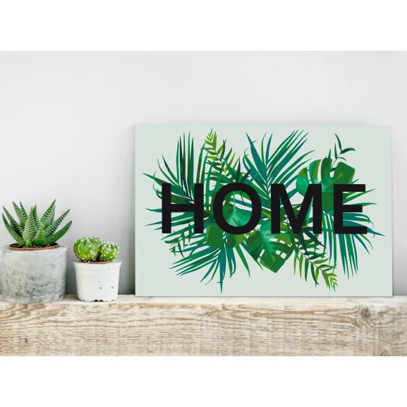 Pictatul Pentru Recreere Home On The Leaves 60 cm x 40 cm naturlich.ro
