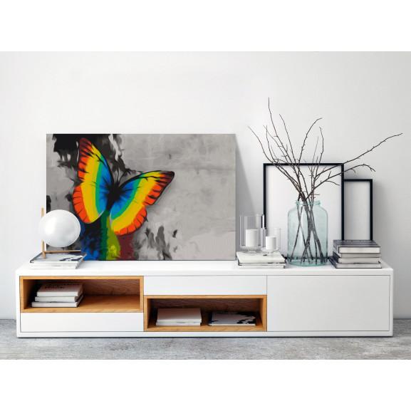 Pictatul Pentru Recreere Colourful Butterfly 60 cm x 40 cm naturlich.ro