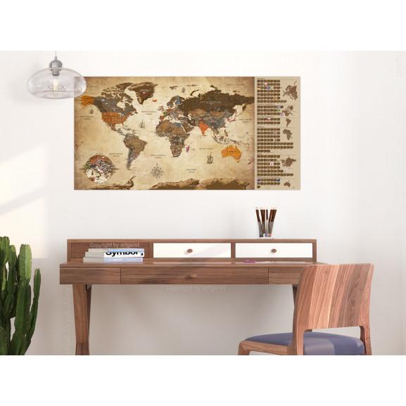 Harta Răzuibilă Vintage Map Poster (English Edition) 100 cm x 50 cm naturlich.ro