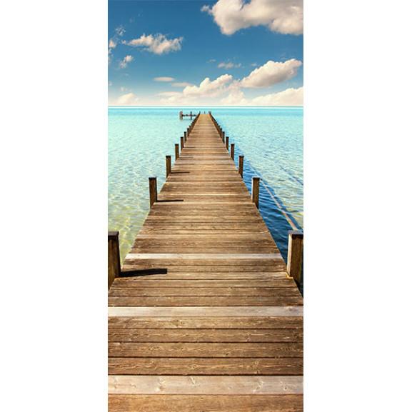 Fototapet Pentru Ușă Turquoise Harbour 100 cm x 210 cm naturlich.ro