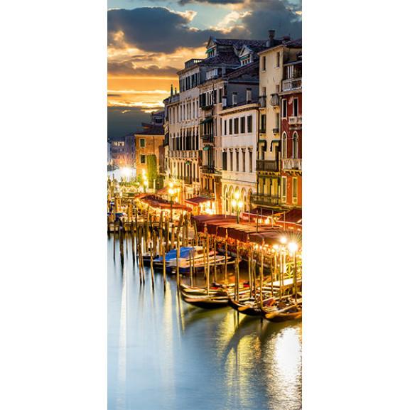 Fototapet Pentru Ușă Venetian Harbour 100 cm x 210 cm naturlich.ro