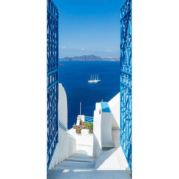 Fototapet Pentru Ușă Holidays In Greece 100 cm x 210 cm naturlich.ro