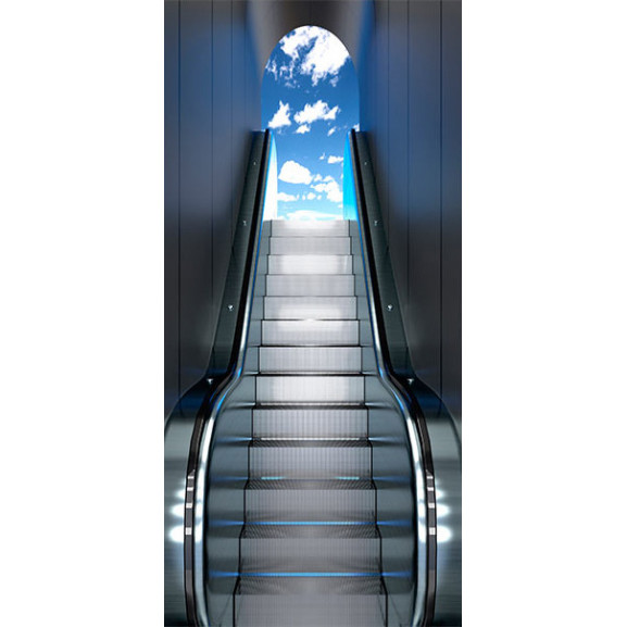 Fototapet Pentru Ușă Escalator 100 cm x 210 cm naturlich.ro