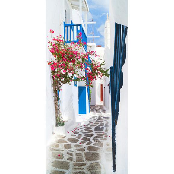 Fototapet Pentru Ușă Walk Through Santorini 100 cm x 210 cm naturlich.ro