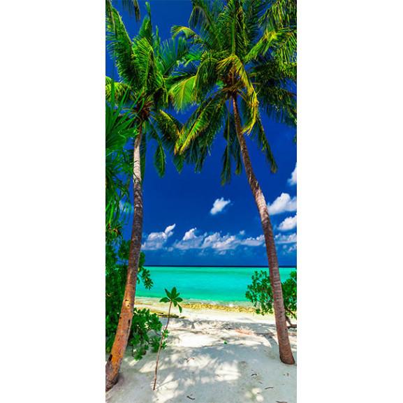 Fototapet Pentru Ușă Photo Wallpaper Island, Beach I 100 cm x 210 cm naturlich.ro