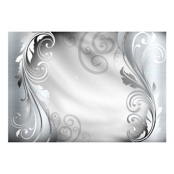Fototapet Silver Ornament 100 cm x 70 cm naturlich.ro