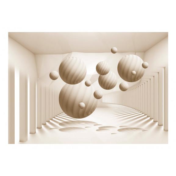 Fototapet Beige Balls 100 cm x 70 cm naturlich.ro