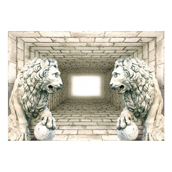 Fototapet Chamber Of Lions 100 cm x 70 cm naturlich.ro