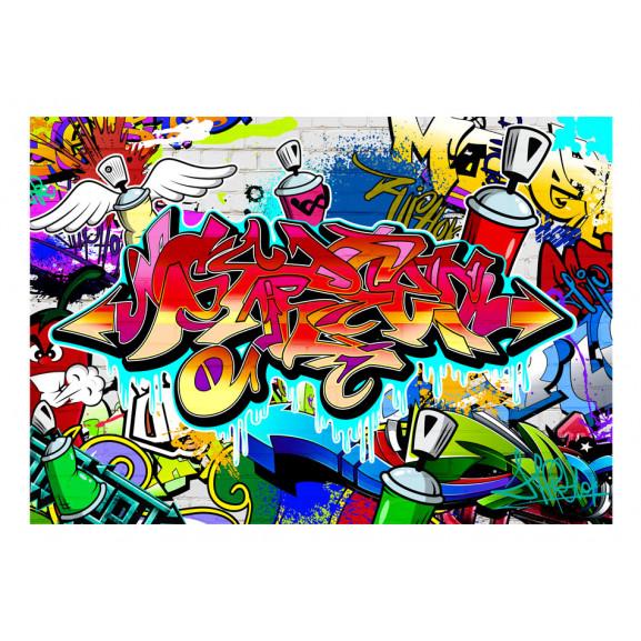 Fototapet Street Art:Red Theme 100 cm x 70 cm naturlich.ro