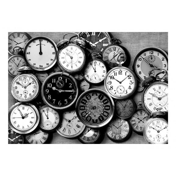 Fototapet Retro Clocks 100 cm x 70 cm naturlich.ro