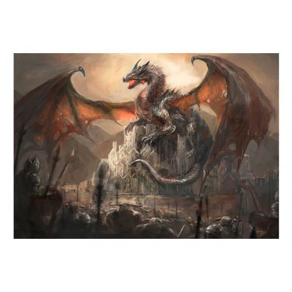 Fototapet Dragon Castle 100 cm x 70 cm naturlich.ro