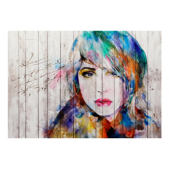 Fototapet Wooden Portrait 100 cm x 70 cm naturlich.ro