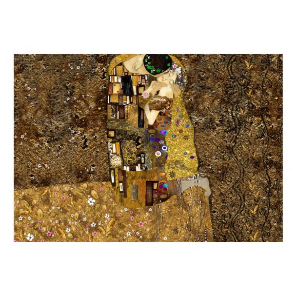 Fototapet Klimt Inspiration: Golden Kiss 100 cm x 70 cm naturlich.ro