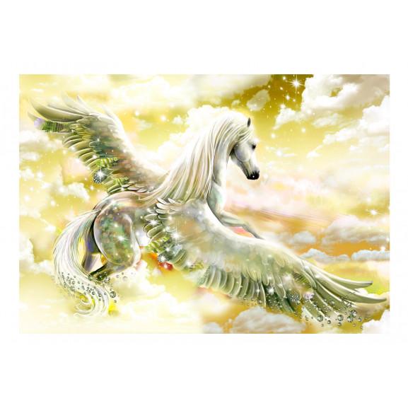Fototapet Pegasus (Yellow) 100 cm x 70 cm naturlich.ro