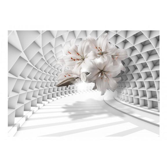 Fototapet Flowers In The Tunnel 100 cm x 70 cm naturlich.ro
