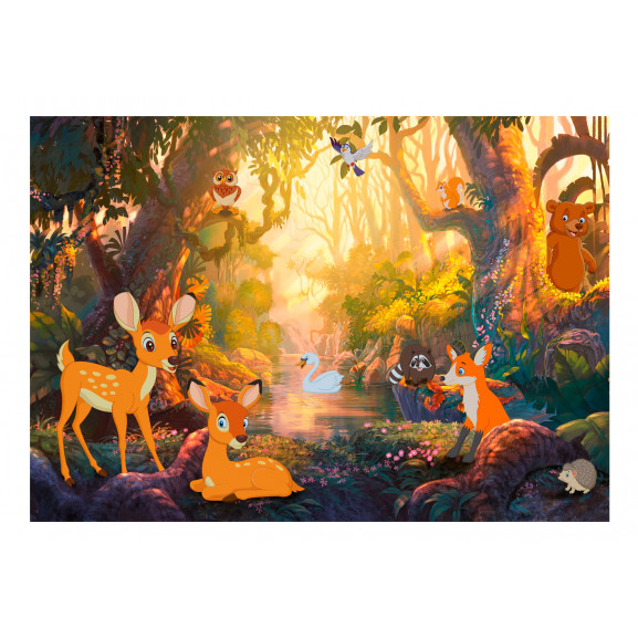 Fototapet Animals In The Forest 100 cm x 70 cm naturlich.ro