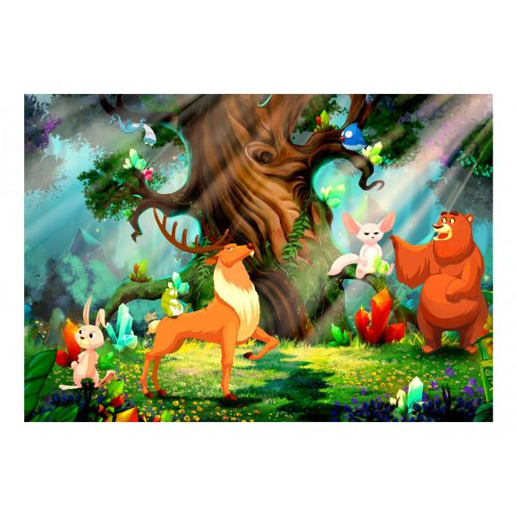 Fototapet Bear And Friends 100 cm x 70 cm naturlich.ro