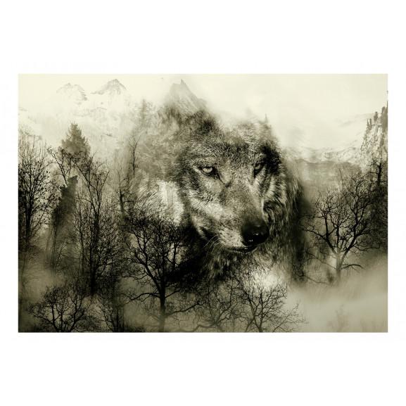 Fototapet Mountain Predator (Beige) 100 cm x 70 cm naturlich.ro