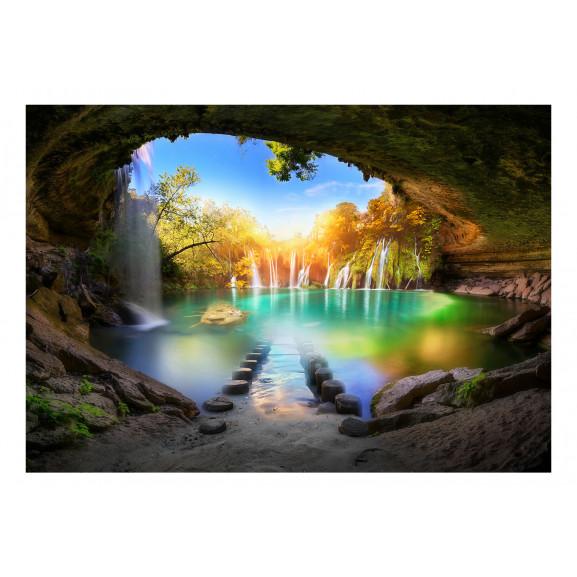 Fototapet Turquoise Lake 100 cm x 70 cm naturlich.ro