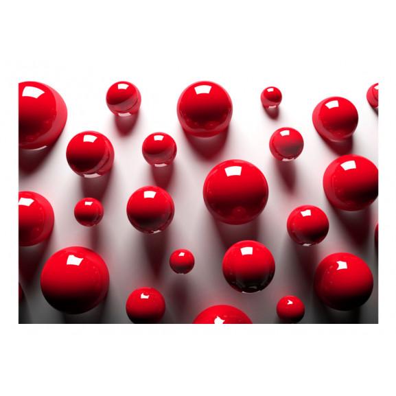 Fototapet Red Balls 100 cm x 70 cm naturlich.ro