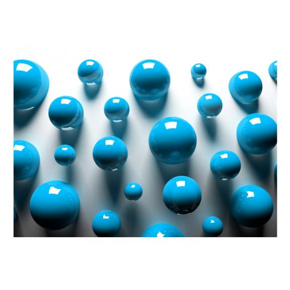 Fototapet Blue Balls 100 cm x 70 cm naturlich.ro
