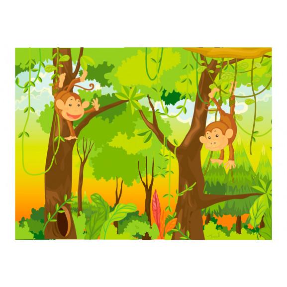 Fototapet Jungle Monkeys 200 cm x 154 cm naturlich.ro