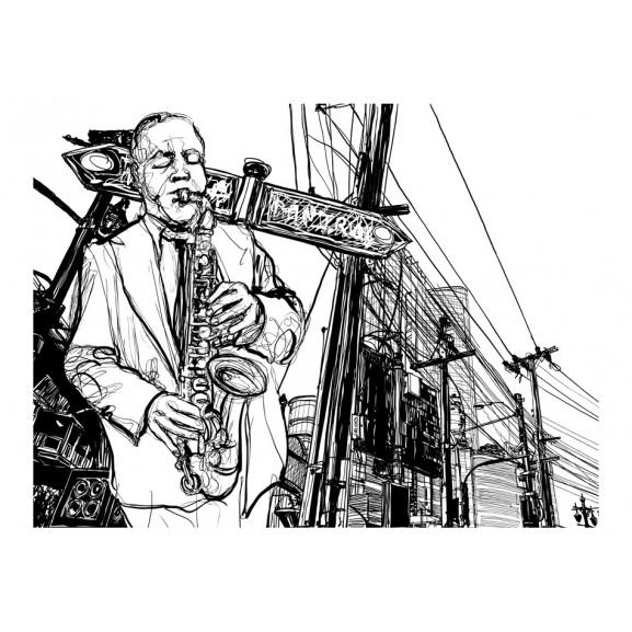 Fototapet Saxophone Recital On Broadway 200 cm x 154 cm naturlich.ro