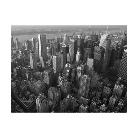 Fototapet New York: Skyscrapers (Bird'S Eye View) 200 cm x 154 cm naturlich.ro